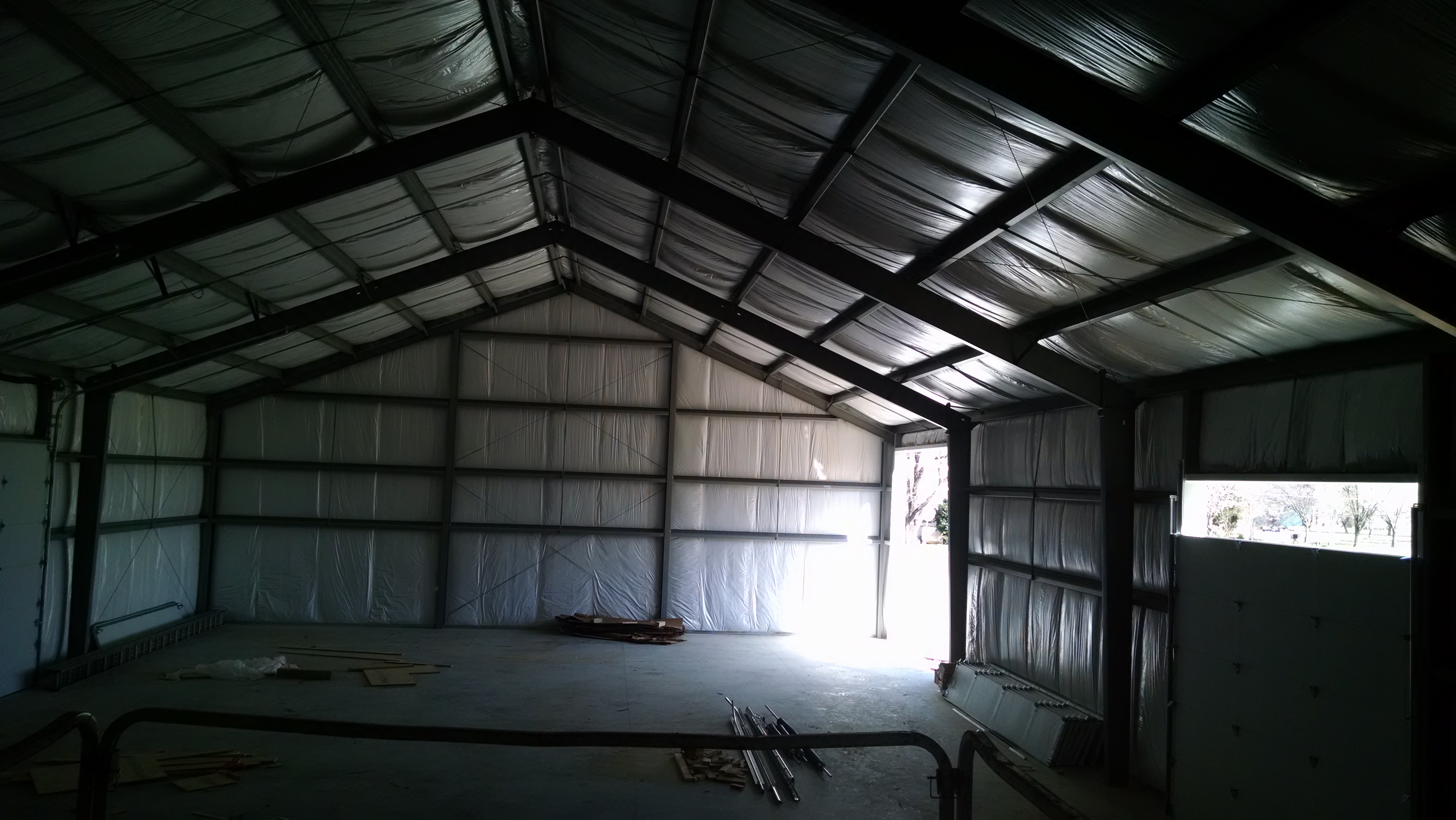 Insulated Interior of Metal Building